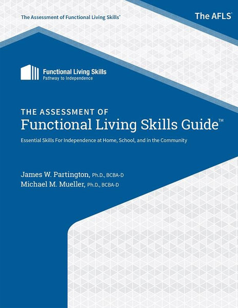 Book cover or image of AFLS Guide (Assessment of Functional Living Skills), Catalog Number 28555.