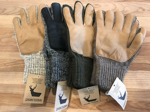 Leather Palmed Wool Gloves Larger Hands - Great Alaska Glove Company