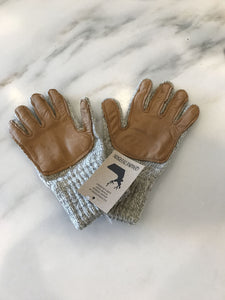 Leather Palmed Wool Gloves Smaller Hands - Great Alaska Glove Company