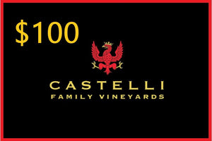 Wine Gift Card - Castelli Family Vineyards - San Diego - Ramona - wine tasting near me