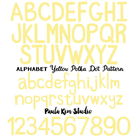 Yellow Polka Dot Alphabet