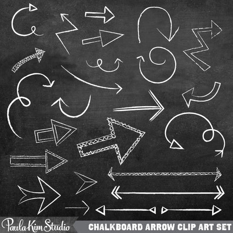 Chalk Arrow Clip Art
