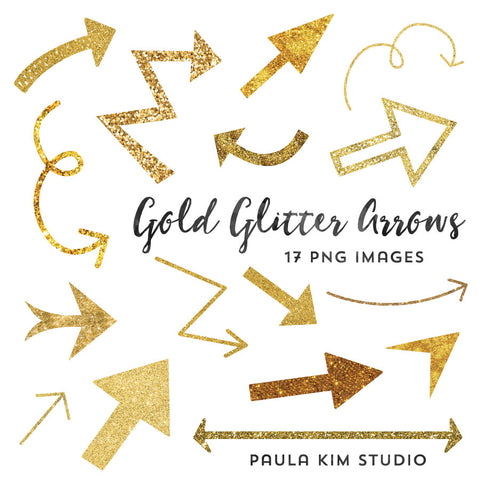 Gold Glitter Arrows