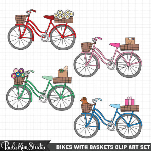 Bike Basket Clip Art