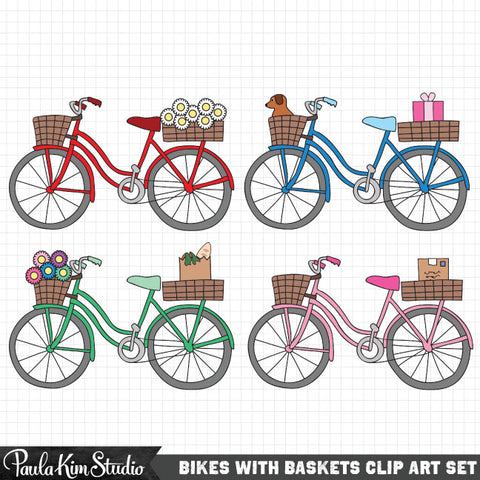 bike basket clip art paula kim studio rh paulakimstudio com bike clipart bicycle clipart