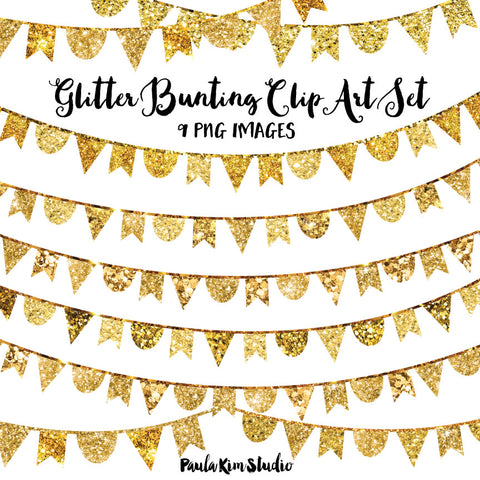 Gold Glitter Bunting