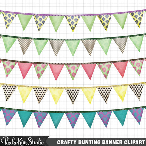 Grungy Pastel Bunting