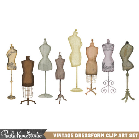 Vintage Fashion Dress Form