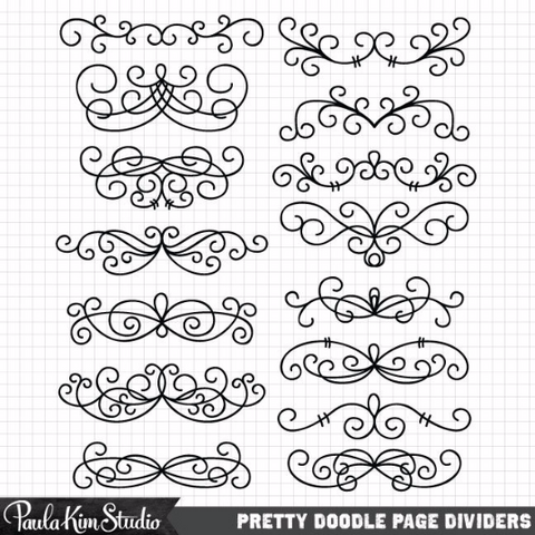 Filigree Page Dividers