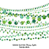 Green Glitter String Lights