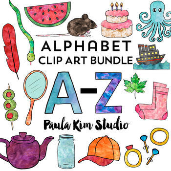 Watercolor Phonics Alphabet Bundle