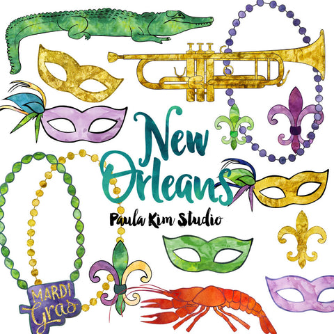 New Orleans Watercolor