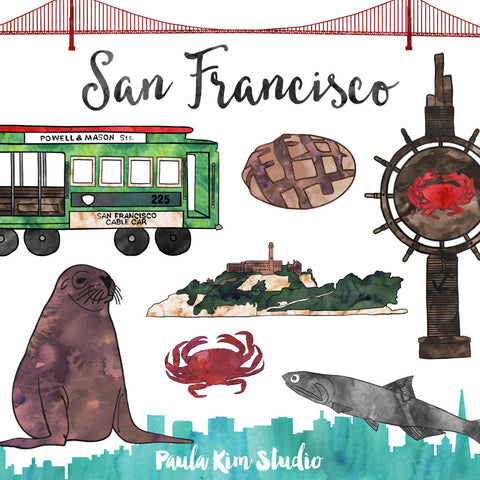 San Franscisco Watercolor