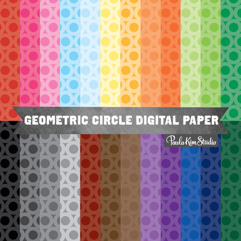 Rainbow Geometric Circle Pattern