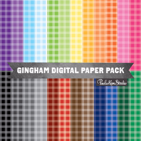 Rainbow Gingham Pattern