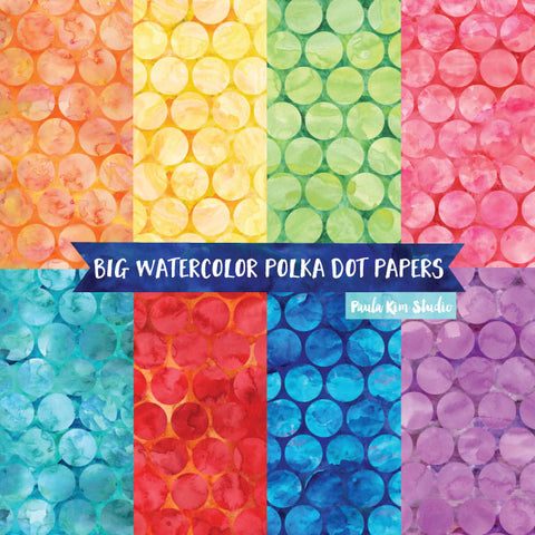 Big Watercolor Polka Dots