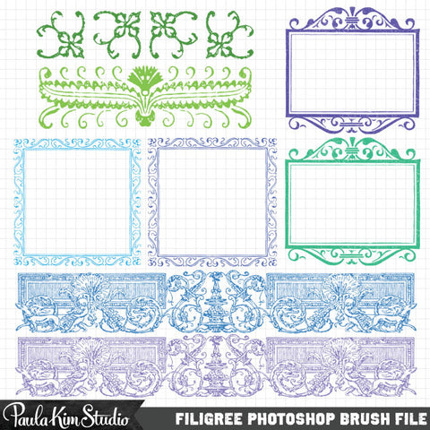 Filigree Frames Photoshop Brush Set