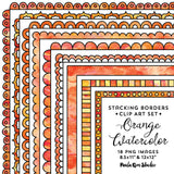 Watercolor Stacking Border