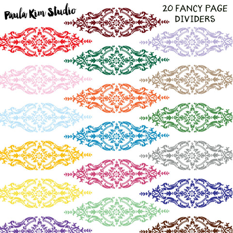 Fancy Filigree Page Dividers