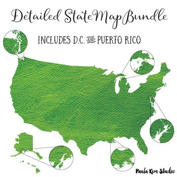 United States Digital Map Bundle