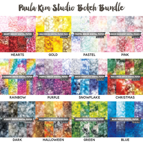 Bokeh Background Digital Paper Bundle
