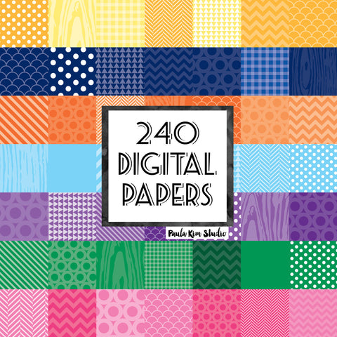 Mega Basics Digital Paper Bundle