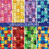 Watercolor Puzzle Background