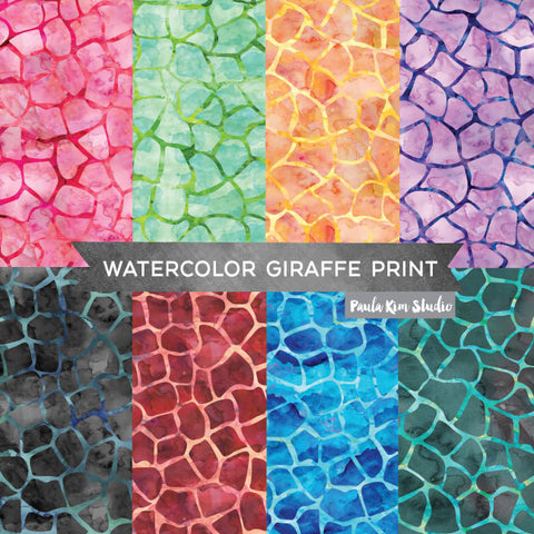 Watercolor Giraffe Pattern