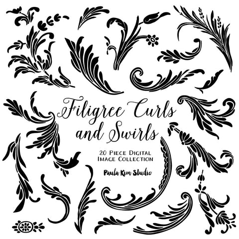 Filigree Feather Vectors