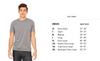Bella & Canvas unisex tee shirt size chart