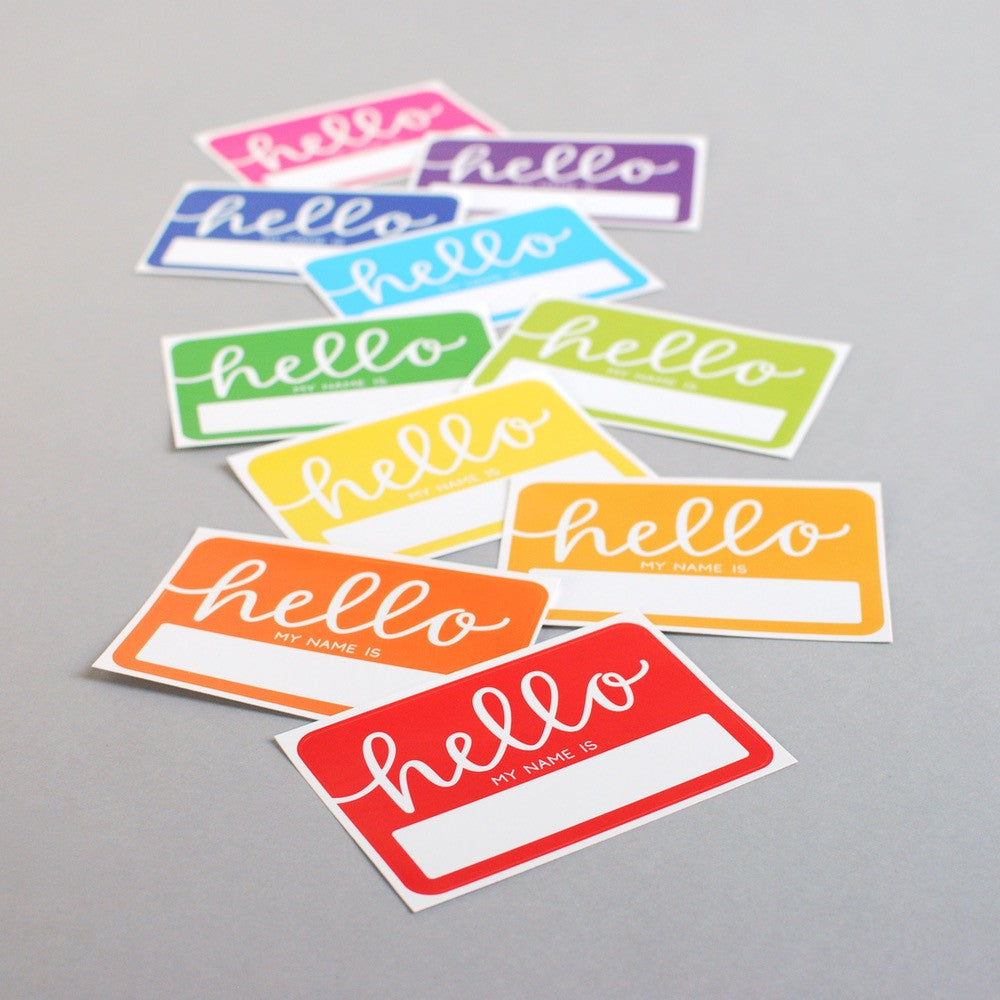 NAME TAGS // Hello My Name Is, Rainbow (Pack of 10)