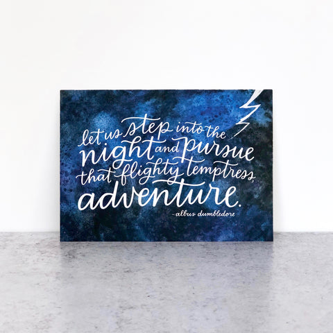 Hand-lettered Dumbledore quote by Em Dash Paper Co.