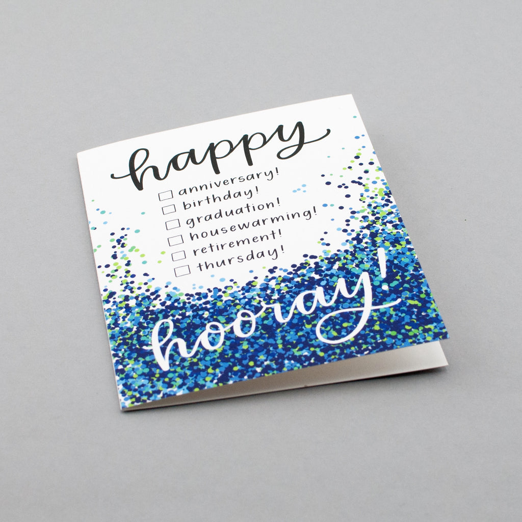 Happy everything confetti card by Em Dash Paper Co.