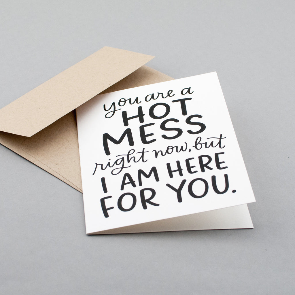 Sassy encouragement card for your bestie who's going through a hard time.