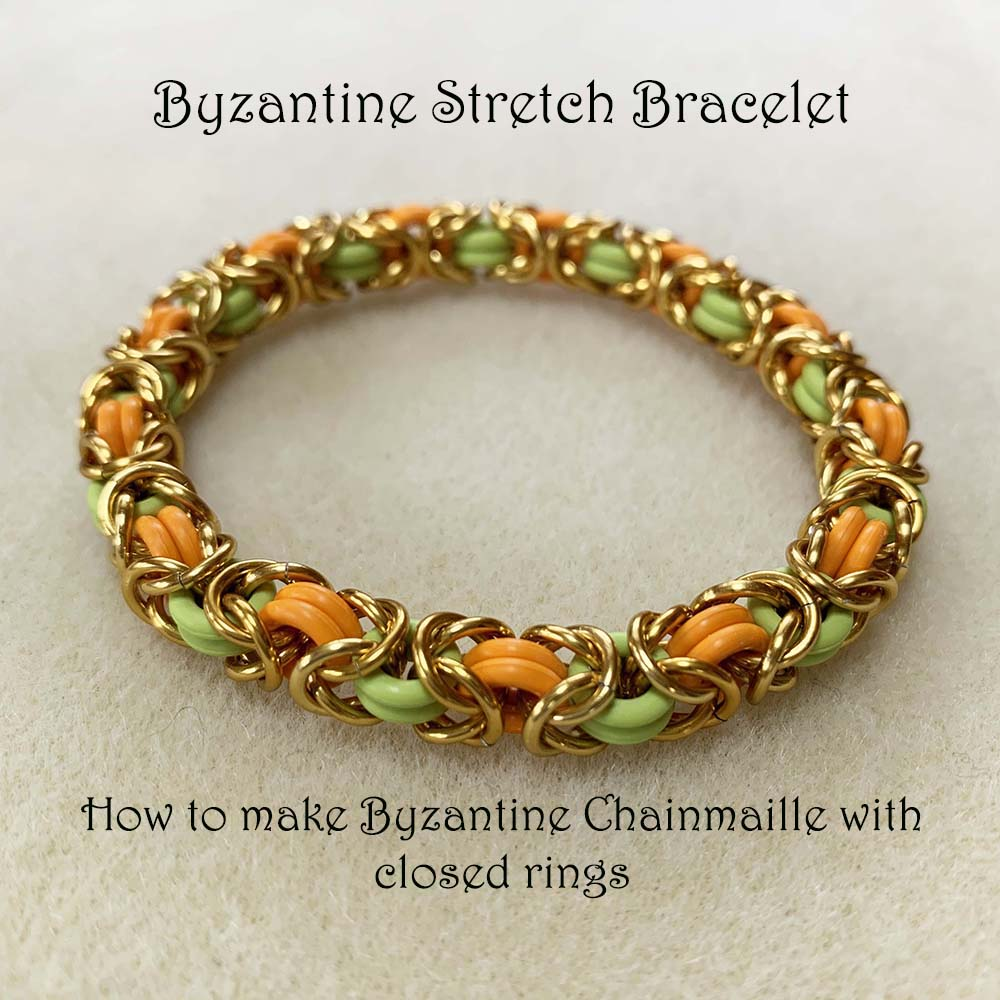 Byzantine Stretch Bracelet (closed ring chainmaille)