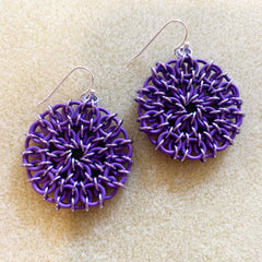Celtic Mandala Earrings Purple