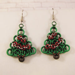 Helm Christmas Tree Earrings