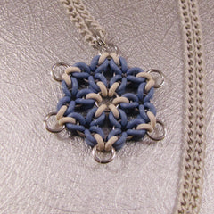 Snowflake Pendant Necklace Powder Blue