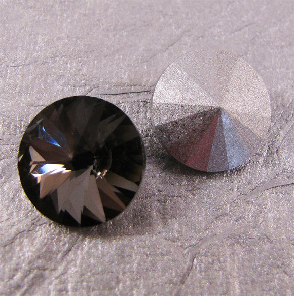 16mm Pointed Back Rhinestones Round Glass - choose color