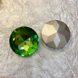 Pointed Back Rhinestone Round 27mm - choose color