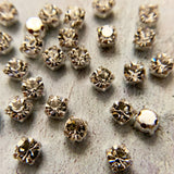 4mm & 4.8mm Chaton Montees Crystal from Preciosa