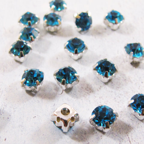 5mm Chaton Montee Rhinestone Beads - choose color & qty