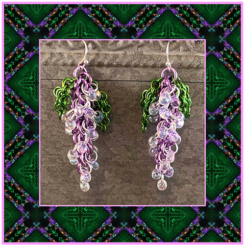 All Locked Up Wisteria Earrings