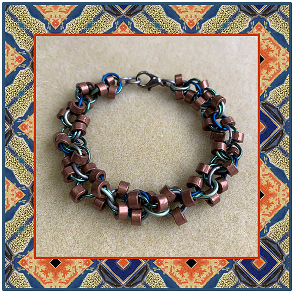 Alternating Rings Chain Bracelet Kit with Free Video