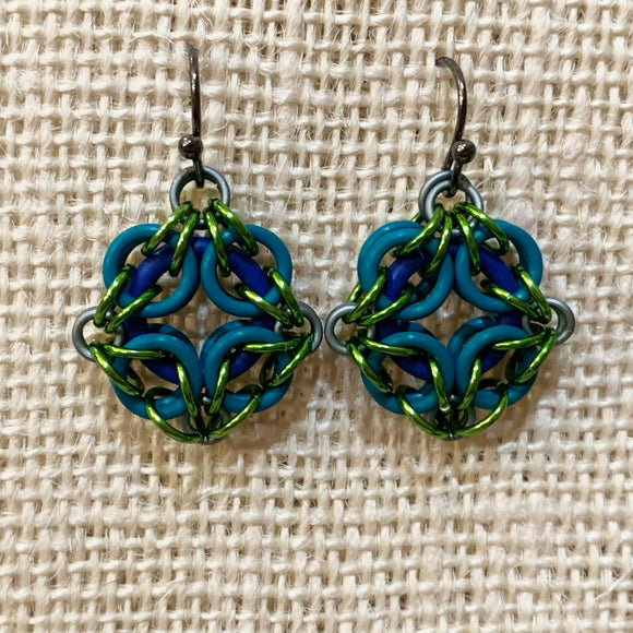 Celtic Labyrinth Oring Earrings with FREE video