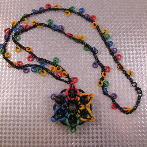 Celtic Star Necklace Kit - Rainbow