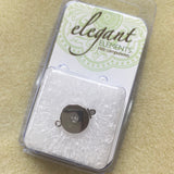 German Clasp Rhodium Plated Box Style - 1 Hole