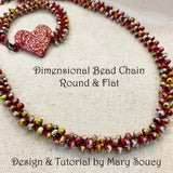 Dimensional Bead Chain Necklace Large Round with Video Class