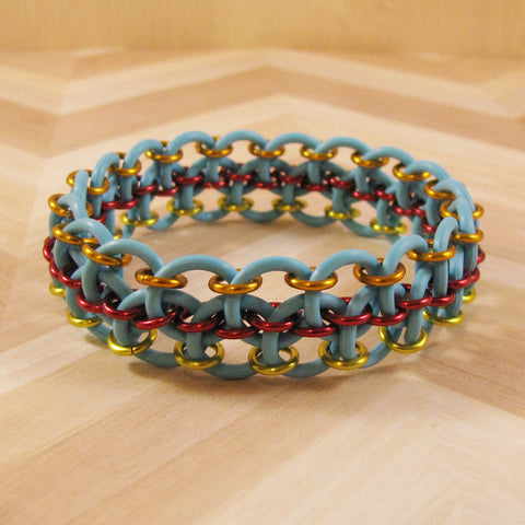Dragon Steps Bracelet Kit - Turquoise with Red, Orange & Yellow