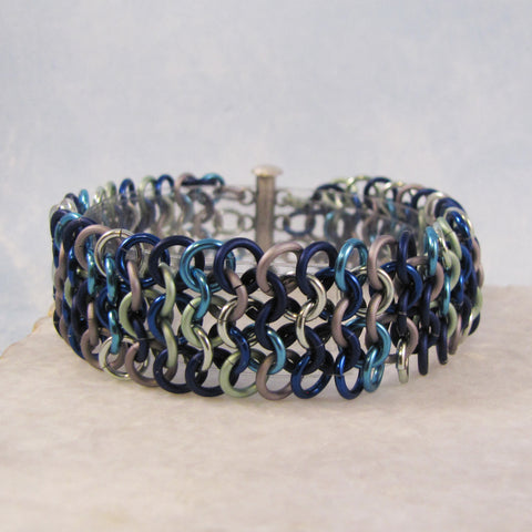 European 4 in 1 Sheet Bracelet - Blue Mix